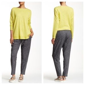 Eileen Fisher Wool Blend Knit Slouchy Pant Gray L